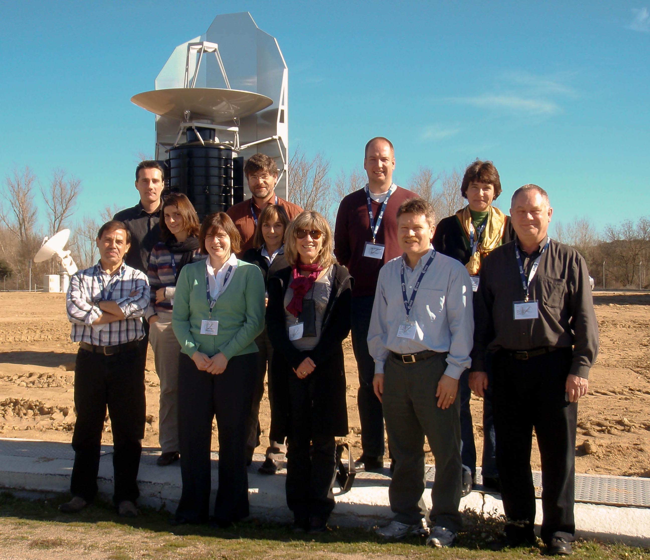The HUG members in front of the Herschel scale model during the HUG#2 meeting held on 23-24 February 2011 at ESAC.