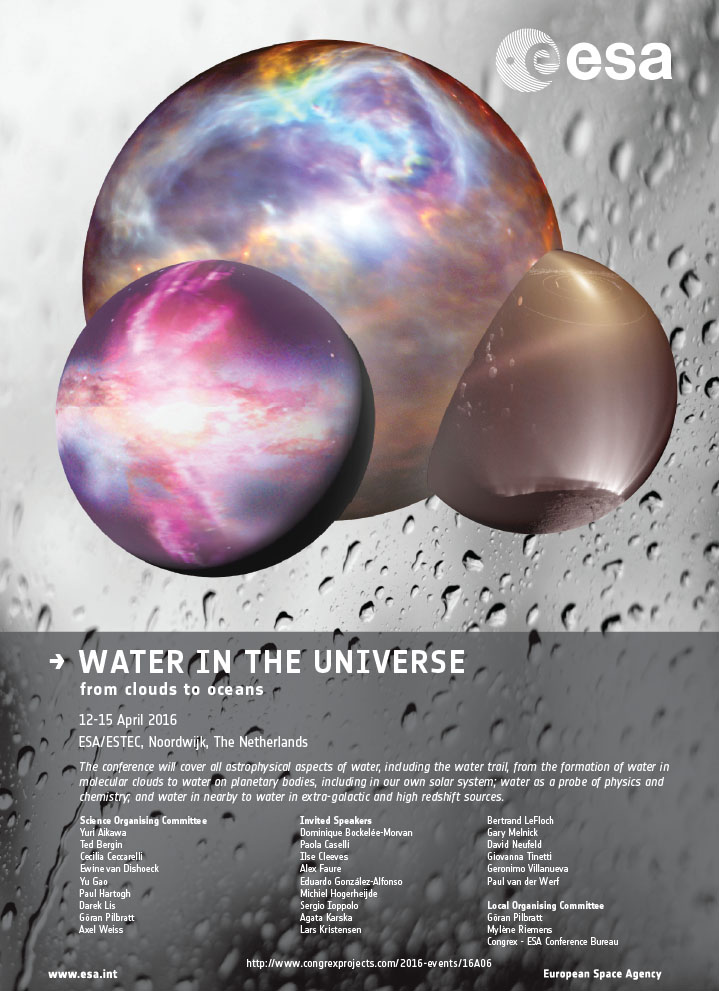 Water In The Universe 2016 Conference Poster