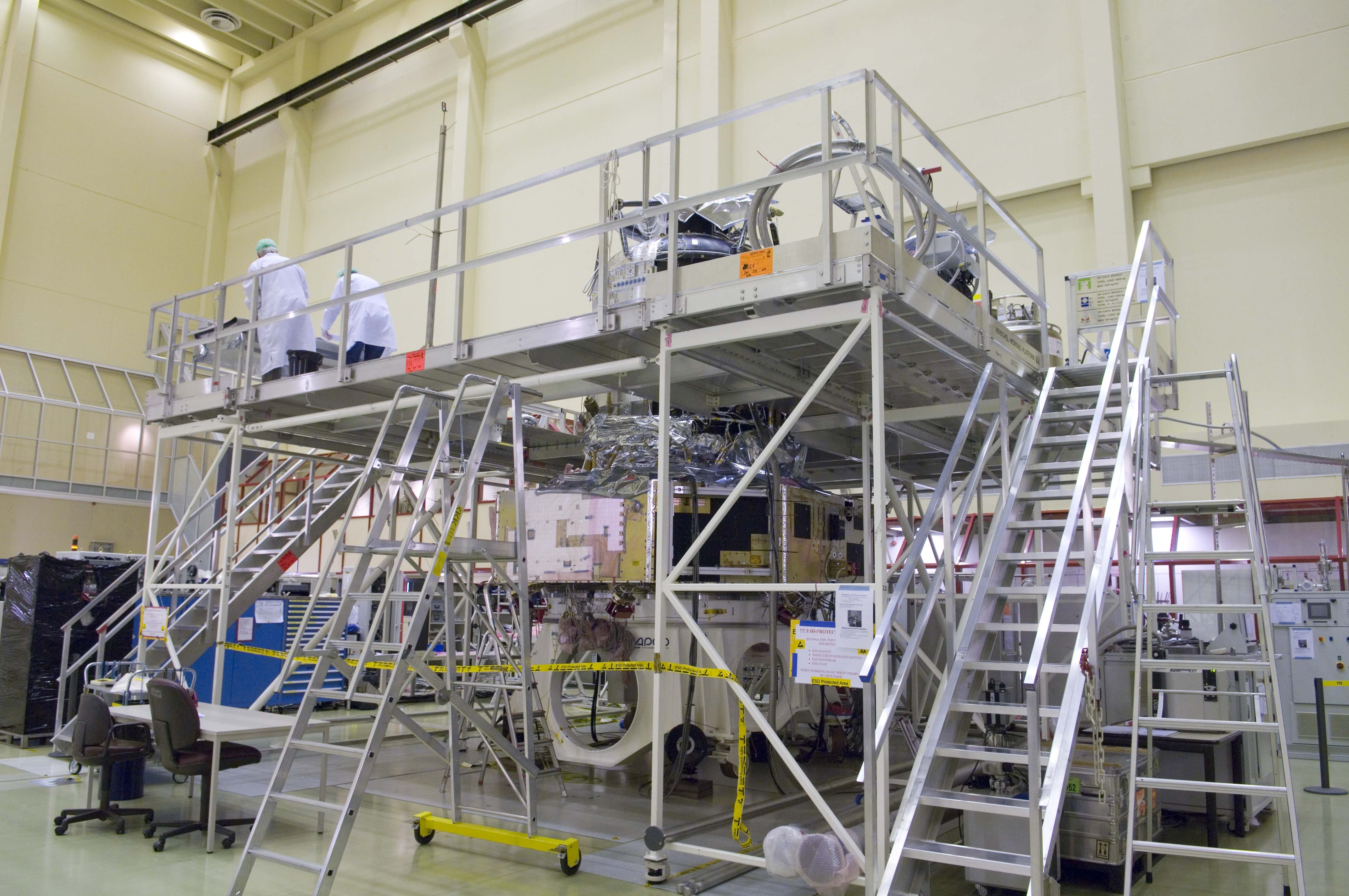 Herschel Cooldown preparation - Scaffolding