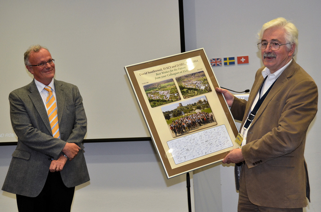 Herschel and Planck teams recognition plaque unveiling and Prof. David Southwood's Farewell events at ESAC