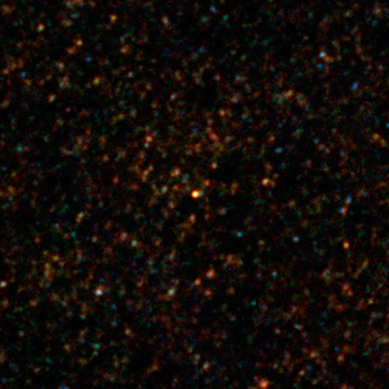 Herschel's view of the bright source HXMM01. Credit: ESA/NASA/JPL-Caltech/UC Irvine