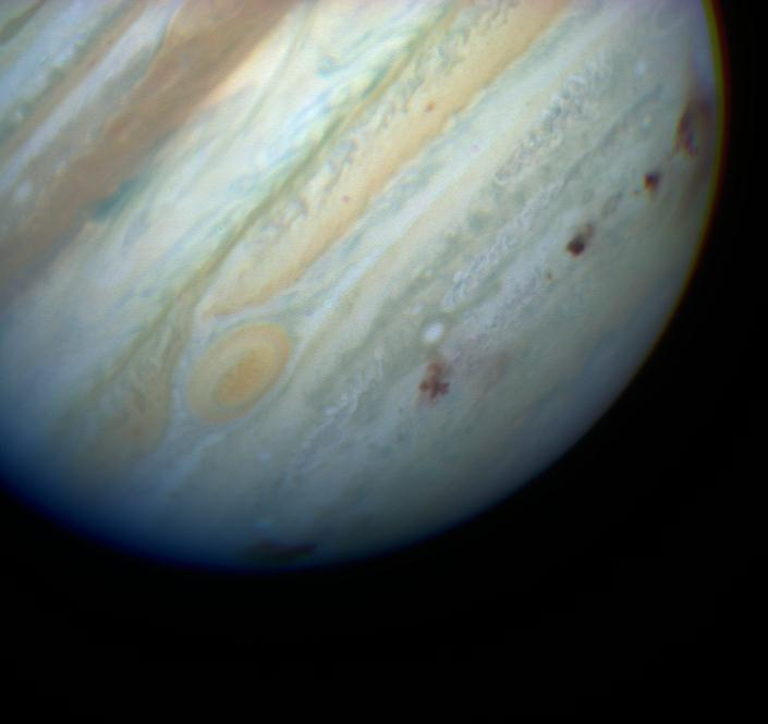 Comet Shoemaker-Levy 9 impacts on Jupiter. Credit: Hubble Space Telescope Comet Team and NASA