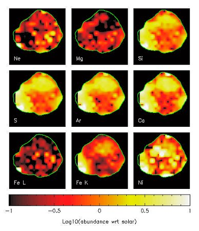 Abundance maps for the elements included in the Cassiopeia A Spectral Analysis