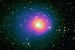 First sighting of hot gas sloshing in galaxy cluster