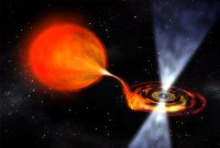 Artist's impression of a pulsar 'eating' a companion star. Credits: NASA/Dana Berry