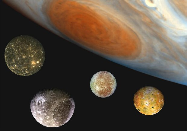 Jupiter and its moons - Cosmos